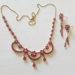 Jewelry - 14K YG Genuine Ruby & Diamond Set